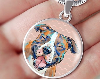 American Staffordshire Terrier Custom Necklace