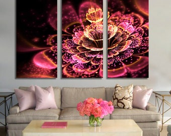 Pink fractal flower Wall Art 464