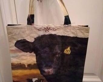 Cow and Calf reusable shopping bag