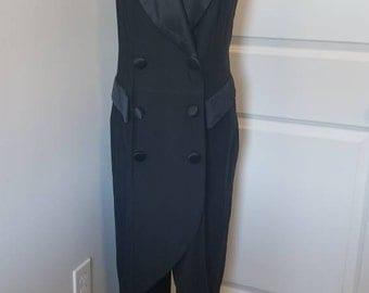 Vintage Black Tuxedo dress