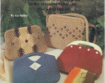 Purses 'a la Macr-ame - Macrame Pattern Book - Macrame Purse - Macrame Purses - Macrame Clutch - Macrame Clutches - Pattern Book