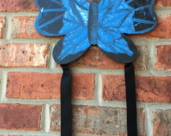 Splatter Paint Butterfly Bow Holder