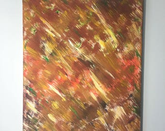 Fall leaves Abstract Art Painting for Artistic Wall