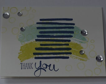 Hand Stamped Artistic Textures Thank You Card