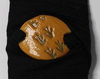 Frog prints Pottery Wrap Bracelet