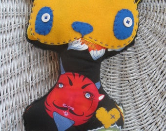 Folk art KITTY kitty cat rag doll