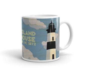 Gifts for Women, Lighthouse Coffee Mug, Lighthouse Kitchen, Lighthouse Gift, Bodie Island Lighthouse Mug, NC Lighthouses