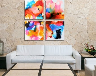 Huge Multi Colored Metal Wall Art, Large Abstract Metal Painting, One of a Kind, Contemporary Artwork, Home Decor - Blazing Sky by Jon Allen
