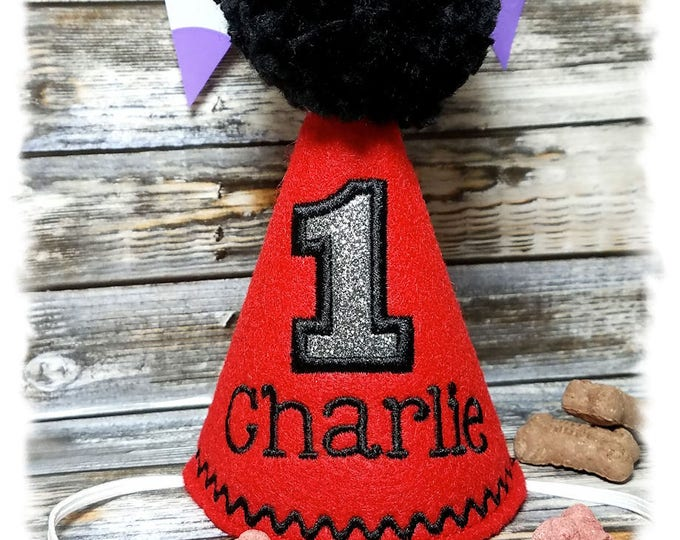 Dog Party Hat Personalized, Dog Birthday Hat , Cake Smash Hat, Party Hat, Pet Party Hat, Pet Birthday Hat