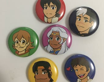 One Inch Button Set - Space Lion Paladins and Space Princess