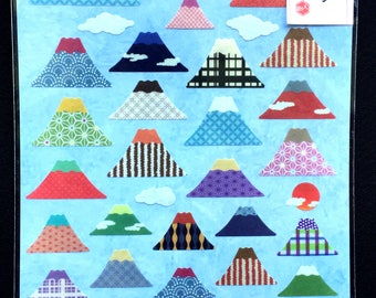 Mount Fuji - Mt.Fuji - Cute Stickers - Japanese Stickers - Chiyogami Stickers -  Traditional Japanese Stickers - Large Sheet (S66)