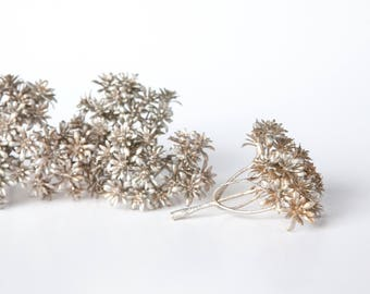Fake Succulents - 7 Artificial Sedum Bunches in Champagne Gold - bouquet filler, Faux Succulents, artificial sedum - ITEM 01161