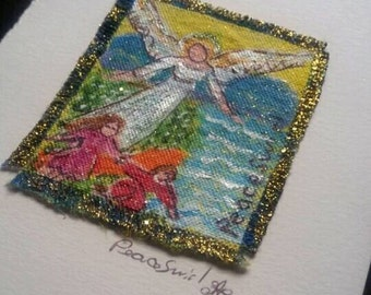 Guardian Angel original PeaceSwirl painting small