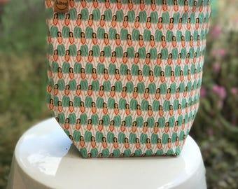 Sock sack/project bag hula girls