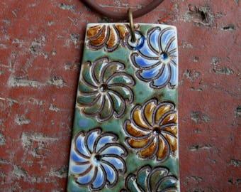 Craftsmen Bouquet Porcelain Pendant