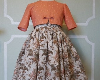 Girl's Vintage Style Easter Dress and Cropped Jacket sz 5/6