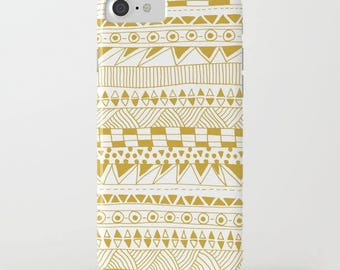 geometric design iphone case-gold and white-trendy pattern-samsung phone cover-gift for her-cute iphone for teen girls-plastic phone case