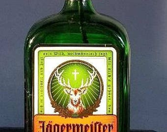 Jagermister Liqueur Lamp Bottle