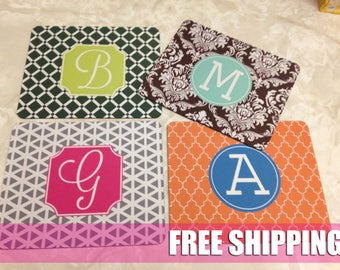 Personalized Mouse Pad, Monogram Mousepad, Custom Mousepad, Custom Mousepad, Custom Mouse Pad, Rectangle Mousepad
