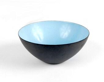 Vintage Krenit Bowl - 50s Krenit Bowl - Herbert Krenchel - Torben Orskov - Danish Modern - Pale Blue - Danish Enamel Bowl - Mid Century Mod