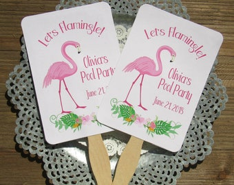 Flamingo Party - Flamingo Party Favors - Flamingo Fans - Flamingo Favors - Flamingo - Pink Flamingo - Party Fans - Birthday Fans