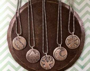choose your totem. sterling silver necklace