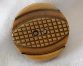 VINTAGE Carved Sew Thru Celluloid Sewing BUTTON