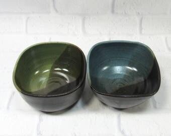 Pottery Bowls - Soup Bowls Set - Set of 2 Bowls - Ceramic Dip Bowls - Ramen Bowls - Noodle Bowls - Rice Bowls - Candy Bowls