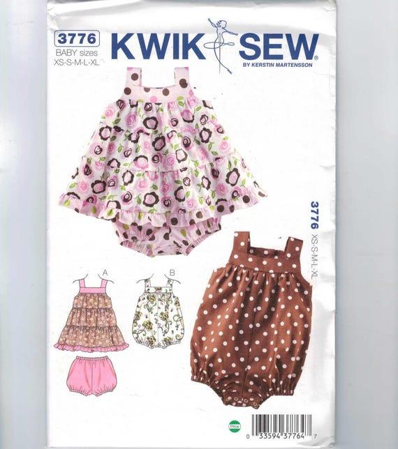 Niños patrón de costura Kwik coser burbuja 3776 bebé mameluco o en ...