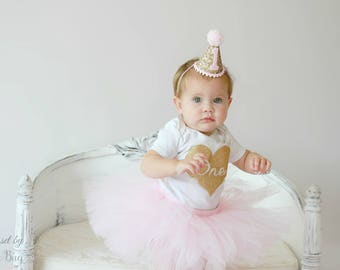 First Birthday Outfit Girl, Tutu Dress Set, Tulle Skirt, Baby Headband Hat, Baby Romper, 1st Birthday Outfit Girl, Baby Tutu Set