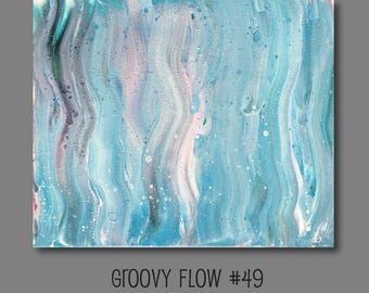 Groovy Abstract Acrylic Flow Crackle Painting #49 Ready to Hang 16x20