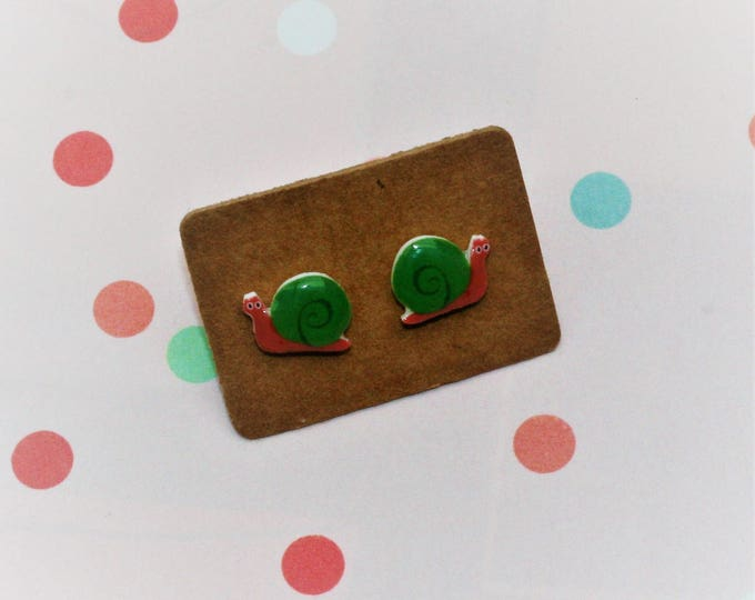 Snail Earrings, Teeny Tiny Earrings, Snail Jewelry, Cute Earrings