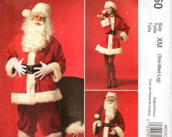 2000s McCall's M5550 UNCUT Sewing Pattern Santa Claus Costume, Mrs Claus Costume, St Nick Costume, Father Christmas Costume Size S-M-L