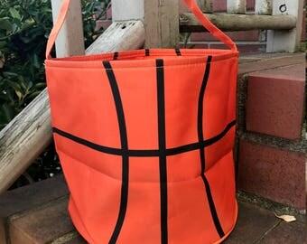 Basketball Easter Bucket~Toy Bucket-Basketball Bag-Monogram included