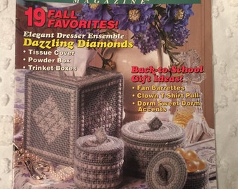 Vintage 1992 Craft Booklet, Plastic Canvas, Instructions, Patterns, How To Directions, Handcrafted Gifts, Home Decor, Yarn Art Craft, Fibers
