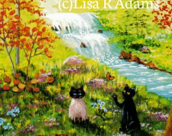 Christian Cat Note Cards from Orig Painting Creationarts Free Shipping