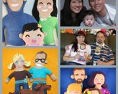 CUSTOM PORTRAIT PLUSH of you or your pet Made to Order