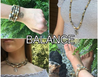 BALANCE - DIY Gemstone Mala Beads KIt - String Your Own Mala Beads