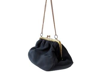 Vintage Ingber Purse | 1950s Bag | Black Evening Purse