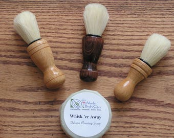 Handmade Wood Shaving Brushes Rustic Wedding