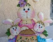 NEW 2018 - Easter Bunny Trio