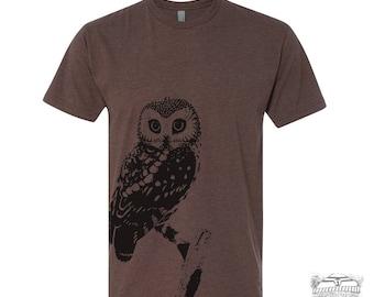 Mens URBAN OWL T-Shirt  s m l xl xxl (+ Color Options) zen threads screen printed