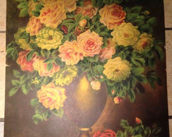 Lovely Floral Bouquet Lithograph