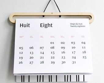 Calendar+hanger/Calendrier+cintre 2018