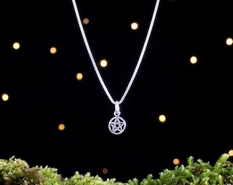 Sterling Silver Tiny Pentacle - (Charm, Necklace, or Earrings)