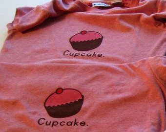 Cupcake w/ cherry on white t-shirt