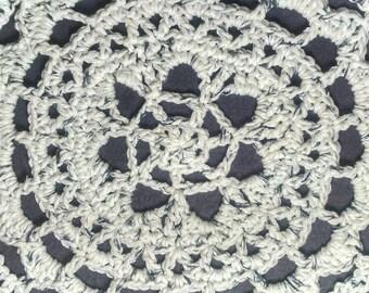 White Cotton Crochet Mandala, Boho Mandala, Boho Doily