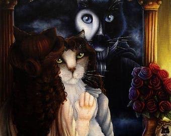 Phantom of the Opera Christine Daae Cat Art 8x10 Print