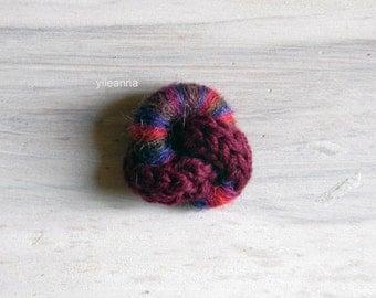 Knot lapel pin -  Lapel stick pin - Wool knot boutonniere - Men lapel pin - Wine red - Blue - Red -