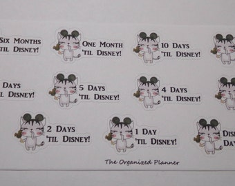 Disney Countdown Stickers / Great for your Erin Condren Life Planner